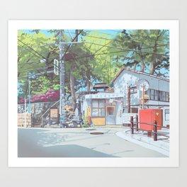 Kanagawa Police Box Art Print