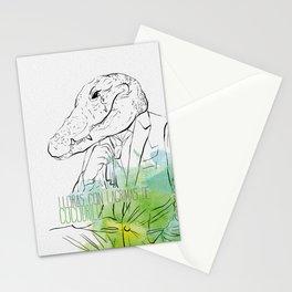Lloras con lágrimas de cocodrilo (you cry with cocodrile tears) Stationery Cards