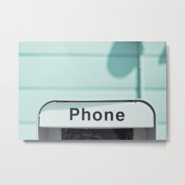Retro Phone Metal Print