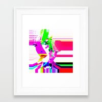 holographic Framed Art Prints featuring future holographic lover by Robert Alan