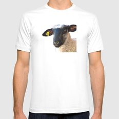 Lamb #0487 MEDIUM Mens Fitted Tee White