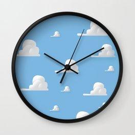 Cartoon Cloud Pattern Wall Clock