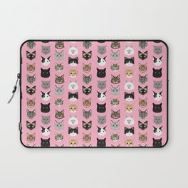 Cats Cats Cats purrfect gift present for cat lover cat lady cat man all cat breeds by pet friendly Laptop Sleeve