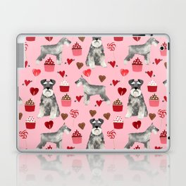 Schnauzer valentines day cupcakes love hearts schnauzers must have pure breed lovers Laptop & iPad Skin