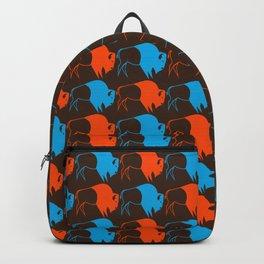 Orange Blue Buffalo Spirit Backpack