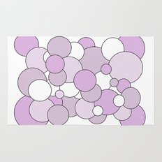 Bubbles - purple and white. Rug