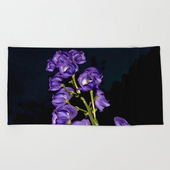 Dark Purple Elegance Beach Towel