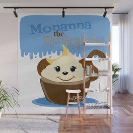 Monanna the Monkeycake - Cupcake Critters Wall Mural