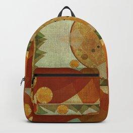 """Orange Greenery Mountains Mandala"" Backpack"