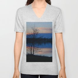 Water reflection Unisex V-Neck