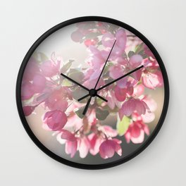 Blossom in Pink Wall Clock