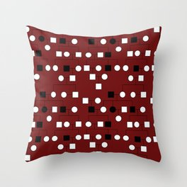 Pedigree Analysis - X-linked Recessive Throw Pillow