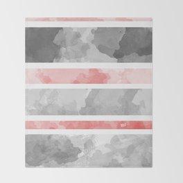 KIROVAIR MARBLE STRIPES #minimal #design #kirovair #decor #buyart #grey #pink #elements Throw Blanket