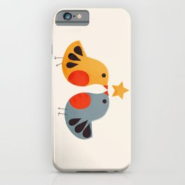 Festive Birds and Star iPhone Case