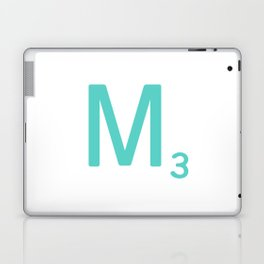 Blue Letter M Scrabble Tiles Laptop & iPad Skin