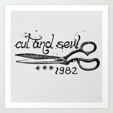 Cut and Sew Art Print