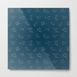 Simple Constellations Blue Metal Print