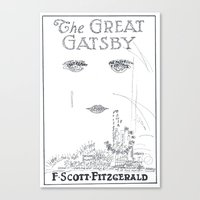 the great gatsby Canvas Prints featuring The Great Gatsby by S. L. Fina