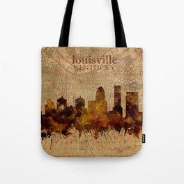 louisville skyline vintage 4 Tote Bag
