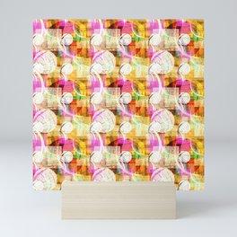 Multicolored geometric shapes Mini Art Print