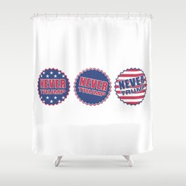 Never Trump (Triple) Shower Curtain