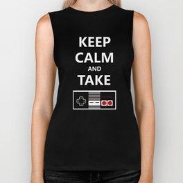 Keep Calm and Take Control Biker Tank