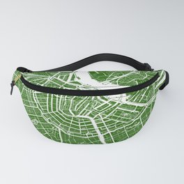 Green City Map of Amsterdam, Netherlands Fanny Pack