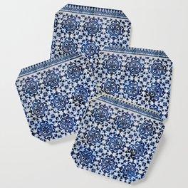 Cobalt Flourish Coaster