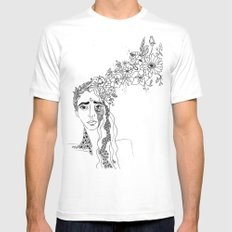 bloom MEDIUM Mens Fitted Tee White