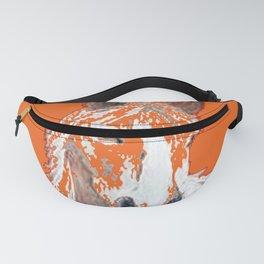 Pinto Buckskin Horse in Orange Fanny Pack
