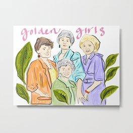 Golden Gals Metal Print