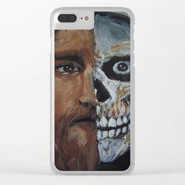 Life or death, chose this day life. Clear iPhone Case