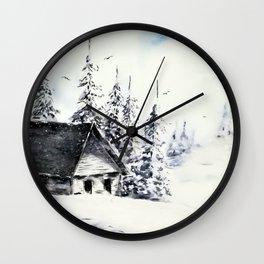 Winter day sunshine Wall Clock