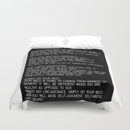The Four Agreements #minimalist 2 Duvet Cover