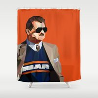 Geometric Ditka Shower Curtain