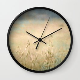 Flowing with blue Wall Clock