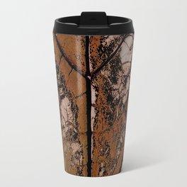 OLD BROWN LEAF WITH VEINS SHABBY CHIC DESIGN ART Travel Mug