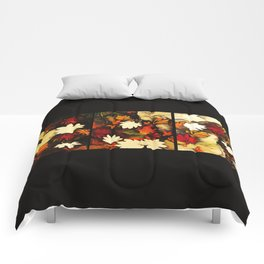 Autumn in Water -tryptich Comforters