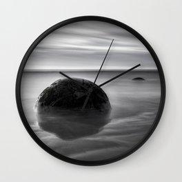 Moeraki at Dawn, New Zealand Wall Clock