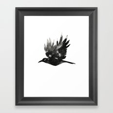 Crow Wings Up Framed Art Print