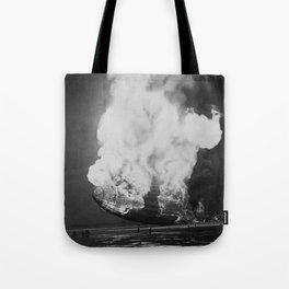 Hindenburg in flames Tote Bag