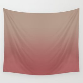 Ombre Warm Taupe and Dusty Cedar Wall Tapestry