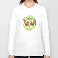 sloths Long Sleeve T-shirts featuring Sloths in Love by Kirsten Sevig