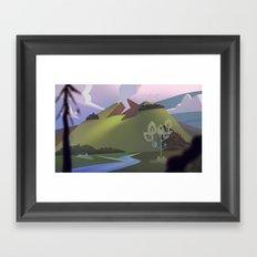 Mountain dweller Framed Art Print