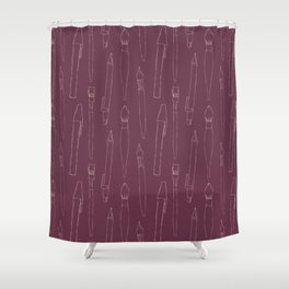 A pencil and a dream... purple! Shower Curtain
