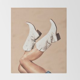 These Boots - Nude Throw Blanket