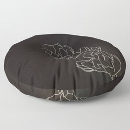 Black and White Alpinia purpurata – Red Ginger Flower, Bogota, Colombia Floor Pillow
