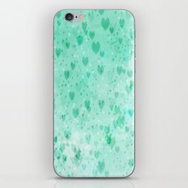 A Sea Of Floating Hearts iPhone Skin