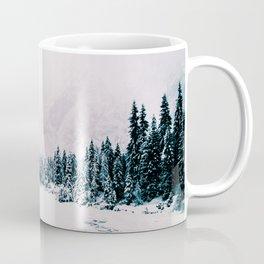 Snowfall in the italian alps Coffee Mug