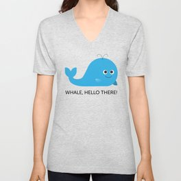 Whale Hello There! Unisex V-Neck